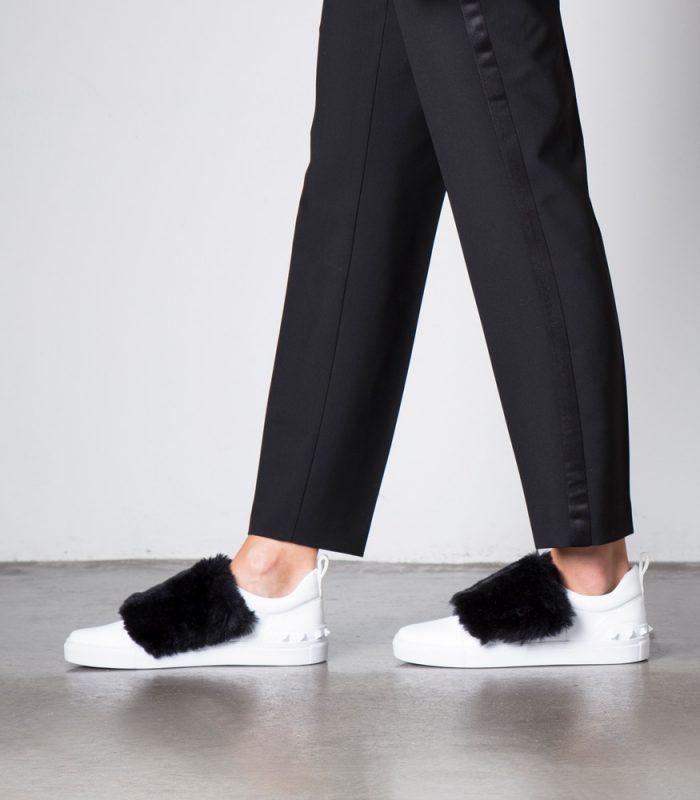 Zapatilla Mujer con Velcro y Pelo BOATING Retro